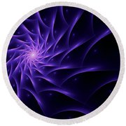 Fractal Web Round Beach Towel