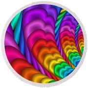 Fractalized Colors -10- Round Beach Towel