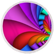 Fractalized Colors -2- Round Beach Towel