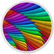 Fractalized Colors -8- Round Beach Towel