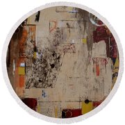Fractions Round Beach Towel