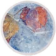 Fractured Seasons Round Beach Towel