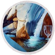 Fragile Moments Round Beach Towel