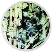 Fragility Round Beach Towel