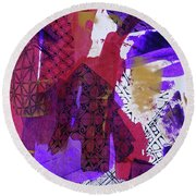 Fragmented Round Beach Towel