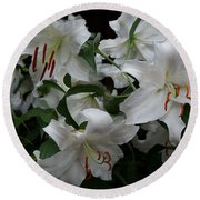 Fragrant Beauties Round Beach Towel
