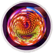 Framed Glass Spiral Round Beach Towel