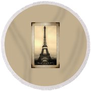 Framed In Paris  Round Beach Towel