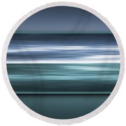Framed Ocean Round Beach Towel