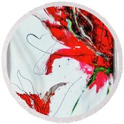 Framed Scribbles And Splatters On Canvas Wrap Round Beach Towel