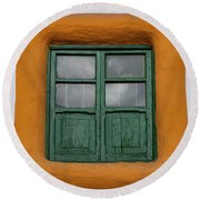 Framed Window Round Beach Towel
