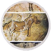 France And Spain: Cave Art Round Beach Towel