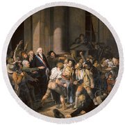 France: Bread Riot, 1793 Round Beach Towel