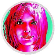 France Gall Round Beach Towel