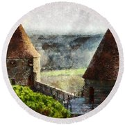 France - Id 16235-220257-3312 Round Beach Towel
