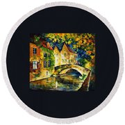 France Round Beach Towel