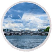 France Nature Round Beach Towel