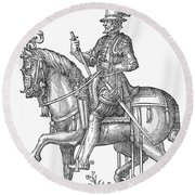 France: Officer, 1572 Round Beach Towel
