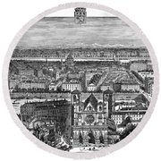 France, View Of Lyon, C1894 - To License For Professional Use Visit Granger.com Round Beach Towel