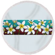 Frangipani Delight Round Beach Towel
