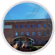 Frank Family Science Center At Guilford College Round Beach Towel