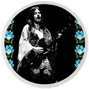 Frank Marino Of Mahogany Rush 4-14-78 Round Beach Towel