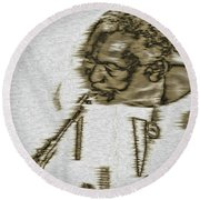 Frank Morgan Round Beach Towel