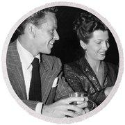 Frank Sinatra And Nancy Round Beach Towel