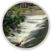 Frankenmuth Lager Mill II Round Beach Towel