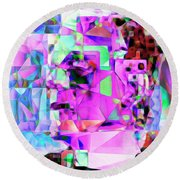 Frankenstein In Abstract Cubism 20170407 Square Round Beach Towel