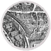 Frankfurt Am Main, 1628 Round Beach Towel