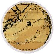 Franklin Chart, 1786 Round Beach Towel