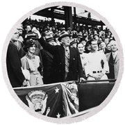 Franklin D. Roosevelt Round Beach Towel