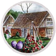 Franklin Park Conservatory Education Pavilon Round Beach Towel