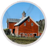 Franklin Spring Barn Round Beach Towel