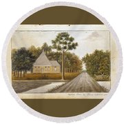 Fraser  Charles   Meeting House In Prince Williams Parish From Untitled Sketchbook Round Beach Towel