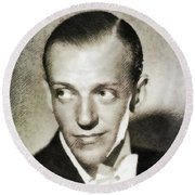 Fred Astaire, Vintage Actor And Dancer Round Beach Towel