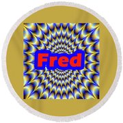 Fred Round Beach Towel
