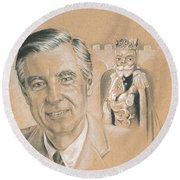 Fred Rogers Round Beach Towel