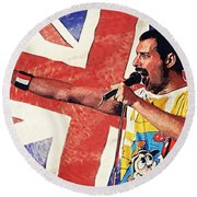 Freddie Mercury Round Beach Towel