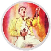 Freddy Mercury Round Beach Towel