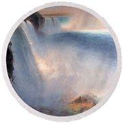 Frederic Edwin Church  Niagara Falls  American Side   1867 Round Beach Towel