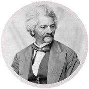 Frederick Douglass Round Beach Towel by War Is Hell Store