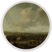 Frederick Henry At The Surrender Of Maastricht  22 August 1632  Manner Of Pieter Wouwerman 1633   1 Round Beach Towel