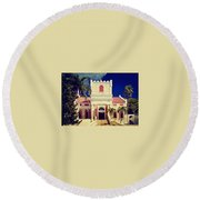Frederick Lutheran Church In St. Thomas Round Beach Towel