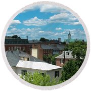Fredericksburg Roof Tops Round Beach Towel