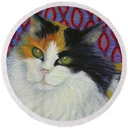 Fred's Cat Round Beach Towel