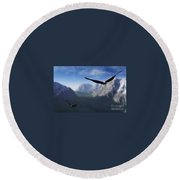 Free Bird Round Beach Towel