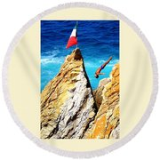 Free Falling Round Beach Towel