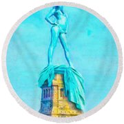 Free Liberty - Da Round Beach Towel